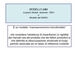 Modello LNJ effetti politiche