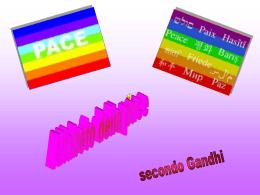 alfabeto della pace secondo gandhi