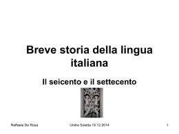 Breve storia della lingua italiana IV