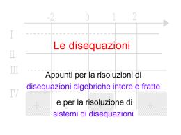 Le disequazioni