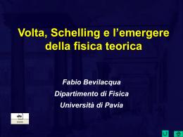 Volta e la Naturphilosophie - Università degli studi di Pavia