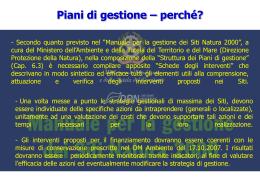 Piani di gestione - Rete Ecologica Basilicata