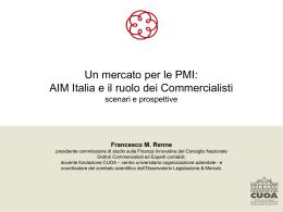 Un mercato per le PMI: AIM Italia e il ruolo dei Commercialisti