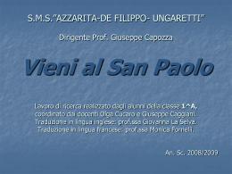 The location - Progetto Questa volta marchio io