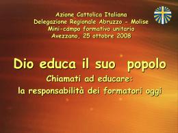 Azione Cattolica Italiana Delegazione Regionale Abruzzo