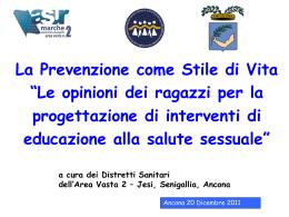Diapositiva 1 - Provincia di Ancona