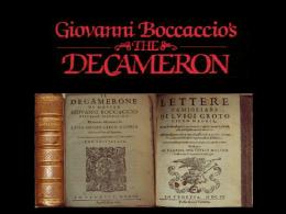 Decamerone di Boccaccio