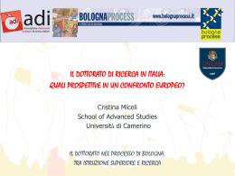 il dottorato di ricerca in italia