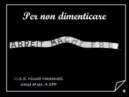 Diapositiva 1 - Liceo Statale Niccolò Machiavelli