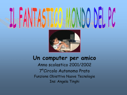 """Il fantastico mondo del PC"""": gli elementi di un"""