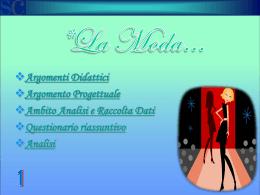La moda - Istituto Sacro Cuore Napoli