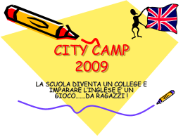 CITY CAMP 2009 - istituto comprensivo