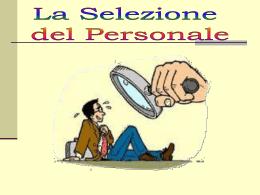 selezione del personale - Università degli Studi di Messina
