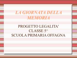progetto legalità 12.13 primaria offagna V