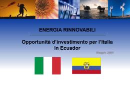Opportunità di Investimento nel settore Energetico