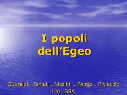 I popoli dell`Egeo