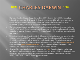 Charles darwin e la teoria della selezione naturale