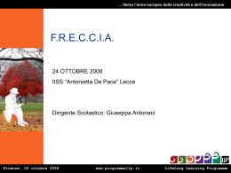 FRECCIA FIRENZE 24-10-08 - Istituto Professionale A. De Pace