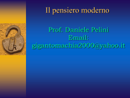 Il pensiero moderno - Pascal