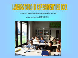 Presentazione in Power Point a.s. 2007-2008
