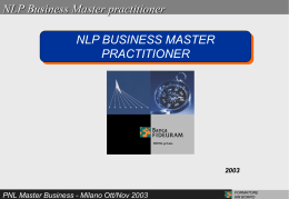 NLP Business Master practitioner