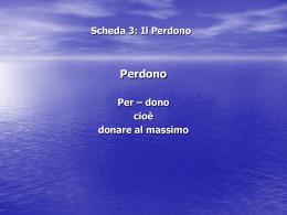 Scheda 3: Il Perdono - San Pier Giuliano Eymard