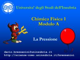 Pressione - Università degli Studi dell`Insubria
