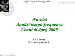 Wavelet Analisi tempo-frequenza Cenni di Jpeg 2000