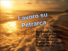 Petrarca. Il Canzoniere - gruppo 2
