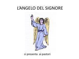 l`angelo del signore va dai pastori