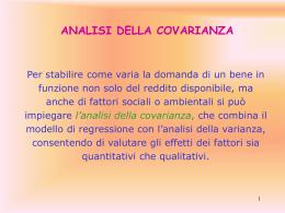 l`analisi della covarianza