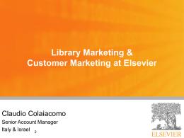 Elsevier come partner. Risorse e servizi gratuiti di supporto