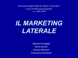 IL MARKETING LATERALE - Università di Urbino