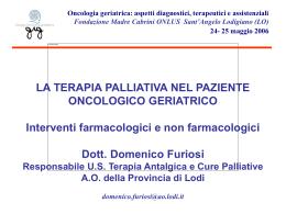 Presentazione di PowerPoint - Fondazione Madre Cabrini > Home