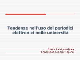 Tendenze nell`uso dei periodici elettronici nelle università