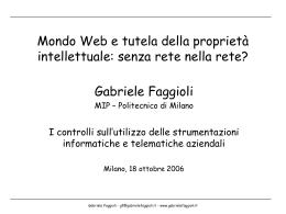Mondo Web e tutela della proprietà intellettuale: senza