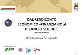 Dal rendiconto al bilancio sociale Pietrogrande