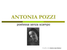 ANTONIA POZZA - Home Page di Maria Serritiello