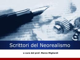 Scrittori del Neorealismo