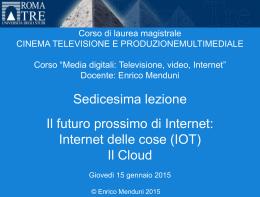 Media digitali 2014-15 Lezione 16