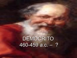 Anassimene e Democrito