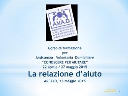 Scarica il documento - AVAD - Associazione Volontari Assistenza