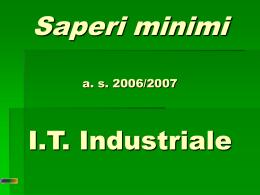 Saperi minimi industriale