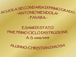 Tesina Multimediale (Christian Di Rosa 3D)