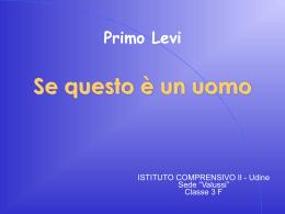 Primo Levi - anps udine