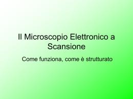 Cosa è la Microscopia elettronica