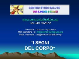 Diapositiva 1 - Centro Studi Salute