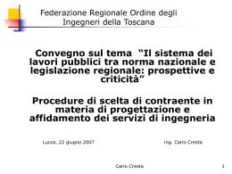 Slides - Federazione Ingegneri Toscana
