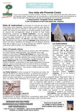Piramide - Associazione Progetto Uomo Ambiente