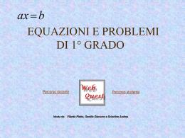 Equazioni di 1 grado